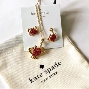 Kate Spade crystal crab set